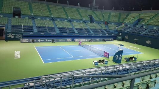 國際網球公開賽展場布置